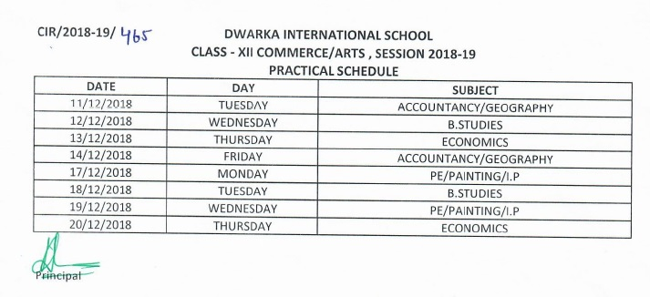 practical Class XII Commerce